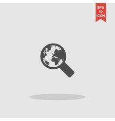 Search web icon design vector image