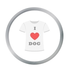 Shirt i love dogs icon in cartoon style for vector