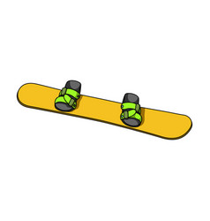 Snowboardextreme sport single icon in cartoon vector