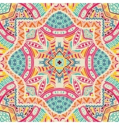Abstract folk ethnic colorful seamless pattern vector