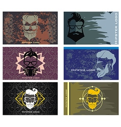 Hipster style set vector image