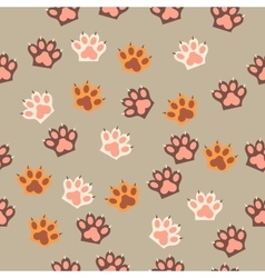 Cat paw print with claws vector