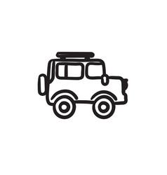 Car sketch icon vector