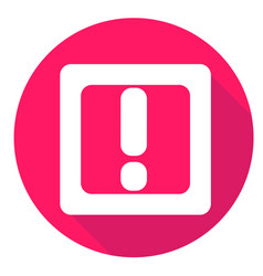 Mark or exclamation icon of set material design vector