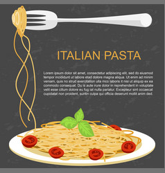 trendy concept for pasta vector image