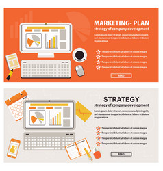 business strategy banners vector image