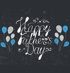 Happy fathers day lettering card poster banner vector