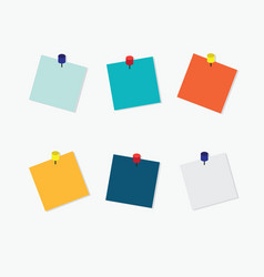 Blank colorful sticky notes vector