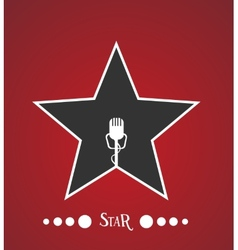 Star with microphone vector
