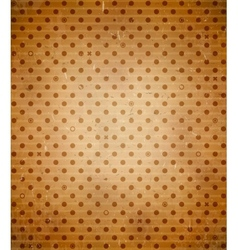 Scratched cardboard with polka dot pattern vector