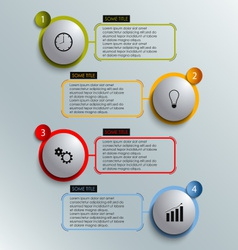 Info graphic colored round element work template vector