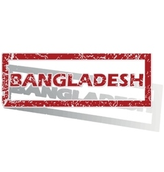Bangladesh outlined stamp vector