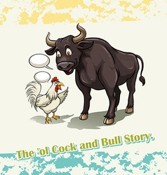 Old cock and bull story vector