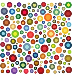 Circle shape collection in multiple color on white vector