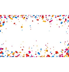 Confetti celebration frame background vector