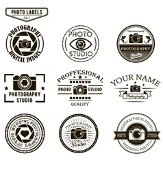 Set of photography logo templates photo vector