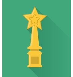 Gold trophy design vector
