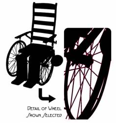 Vintage wheelchair vector