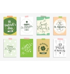 Set of cards for st patricks day typographic vector