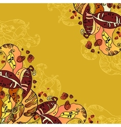 Beans abstract floral design vector