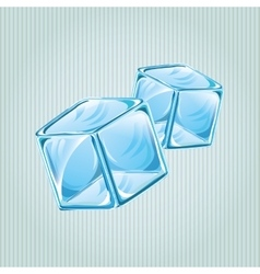 Ice cubes design vector