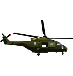 army helicopter vector image