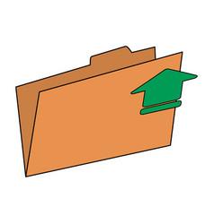 Arrow documents folder vector