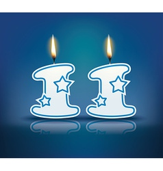 Birthday candle number 11 vector image vector image
