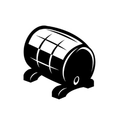 black barrel icon on white background vector image vector image