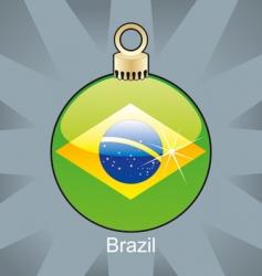 brazil flag in bulb vector image vector image