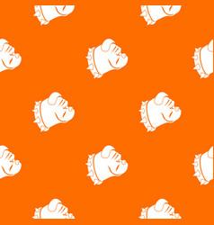 Bulldog dog pattern seamless vector