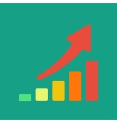 Business concept graph vector image vector image