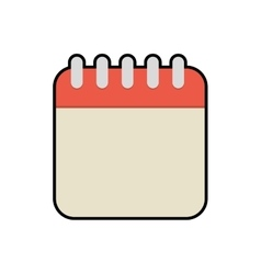 Calendar office object instrument icon vector