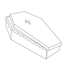Cartoon image of spooky coffin vector