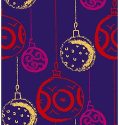 Christmas bauble background Seasonal winter vector image vector image