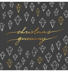 Christmas giveaway card vector