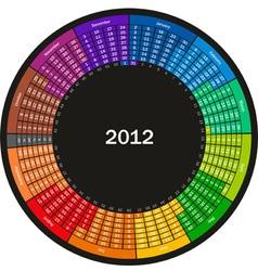 color calendar vector image vector image