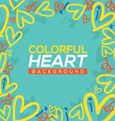 Colorful hearts background vector