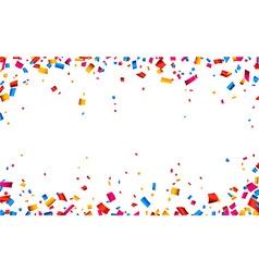 Confetti celebration frame background vector