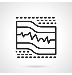 Ecg paper black line icon vector