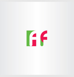 F letter logotype sign element vector