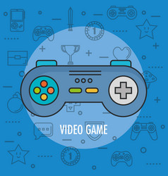Gamepad control console for video game device vector
