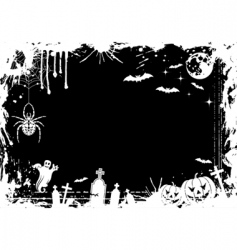 grunge Halloween frame vector image vector image