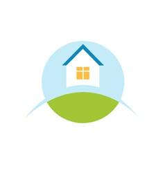 home house logo icon vector image