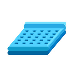 inflatable bed vector image