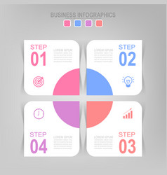 Infographic step flat design of business icon vector