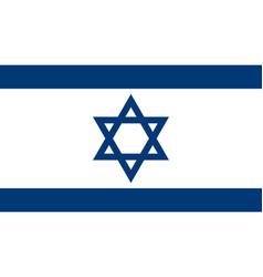 israeli flag vector image