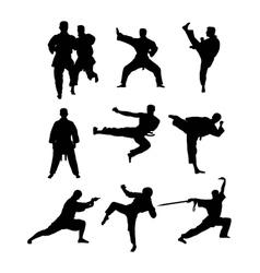 Kyokushin Karate Silhouettes Set vector image