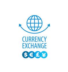 logo currency exchange vector image vector image