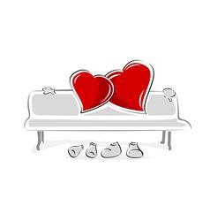 loving hearts vector image vector image